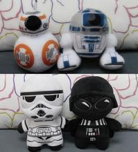 New 20cm Star Wars 7 BB8 plush toys set The Force Awaken BB-8 Droid Robot R2D2 Darth Vador Storm Trooper stuff Doll toy for kid