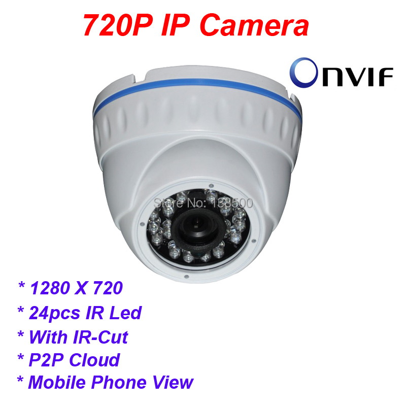 Wholesale H.264 CCTV 1280x720 1.0MP Security HD mini IP Dome Camera Indoor with IR-Cut 3.6mm Lens<br><br>Aliexpress