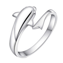 Romantic Dolphin Bay Lovers Ring Opening Adjustable Fashion Ring New Design High Quality Drop Shipping