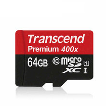 Genuine Original Transcend Micro SD Card 64GB 32GB 16GB High Speed 60MB/s UHS-I Premium 400X MicroSD SDXC SDHC TF Memory Card
