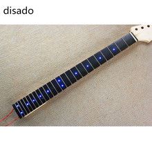 disado 24 frets Inlay LED dots Rosewood Fretboard maple Electric Guitar Neck Guitar Parts musical instruments accessories