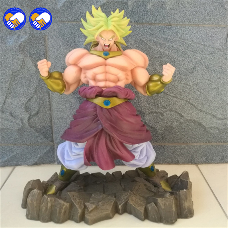 A toy A dream Dragon Ball Z Broli Broly Figure Legendary Super Saiyan Broli Son Goku Radish Kakarotto 25CM PVC Action Figure<br>