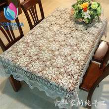 the best selling 2016 china 100% natural cotton handmade table cloth with star cover for dinning table decoration for sale cover