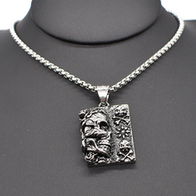 AMUMIU 40/45/50/55/60cm Men Women Skull Casting Tag Punk Pendant Necklace Chain Link For Jewelry Bike Hot Sale Skeleton HZP238(China)