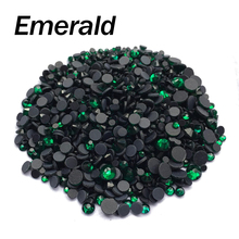 Emerald Stone Mixsize SS6/10/16/20/30 2060pcs/lot  Hotfix Rhinestones for DIY Rhinestone motif free shipping