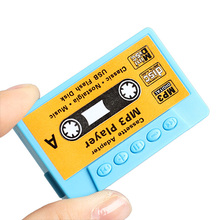 Mini Digital USB MP3 Player Music USB Flash Disk Cassette Vintage Tape Style MP3 WMA Support SD TF Pink Blue with Earphone