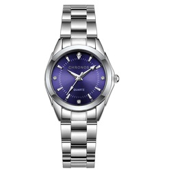 Женские кварцевые водонепроницаемые часы из нержавеющей стали