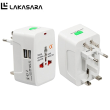 LAKASARA Universal International Electric Plug Power Socket Adapter All in one Travel AC Power Charger Converter EU UK US AU
