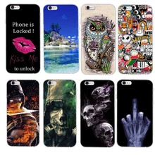 Hot Slim Rubber Back Cover Silicon Gel Cover Fundas for iPhone 5G 5S 6 6S Plus Cartoon Phone Cases Protective Case for iPhone SE