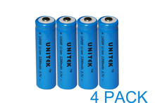 20% OFF UNITEK 3.7v ICR 14500 li-ion battery 1200mah aa size rechargeable lithium ion cell for laser flashlight torch