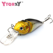 1Pcs 8.5cm 14g 2 Segment Fishing Lures Minnow Wobble Crankbait Crank Bait Bass Tackle Hook Bait Wobblers Fishing japan YE-249