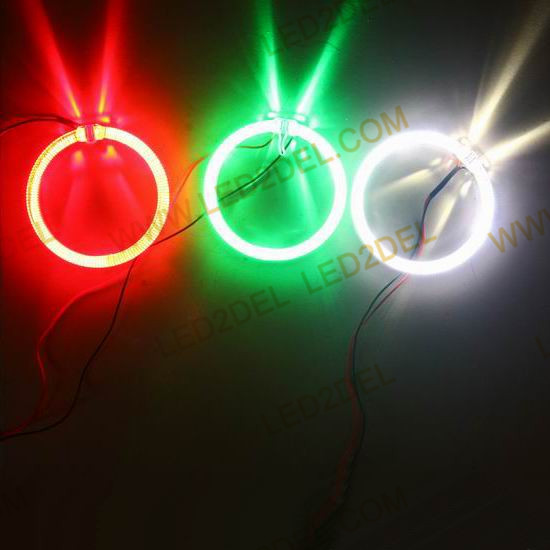 100MM Car Led Headlight CREE LED Halo Ring Angel Eyes Kit Warning Lamps White Blue Yellow Red<br>