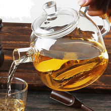 900ml handmade glass teapot flower tea pot kettle With glass lid
