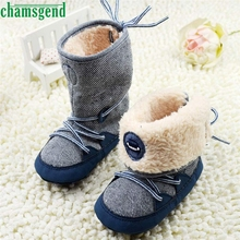 CHAMSGEND Best Seller  baby shoes baby moccasins winter autumn  Baby  Snow Boots Soft Crib Shoes Toddler Boots S40