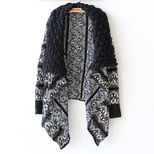 Knitted Cardigan Women New Fall Irregular Shawl Lapel Loose Sexy Cardigans Casual Knitting Capes Clothing Outwear Plus Size
