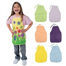 6PCS/LOT,6 color Children's aprons,Decorate your own aprons,Kids apron,Paint tools,Daily accessories.Freeshipping.Wholesale
