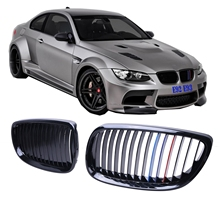 Front bumper grille grill For BMW E92 Coupe 2007 - 2010 E93 Convertible 2D 2008 - 2013 Car Gloss Black M-color Hood Mesh /30