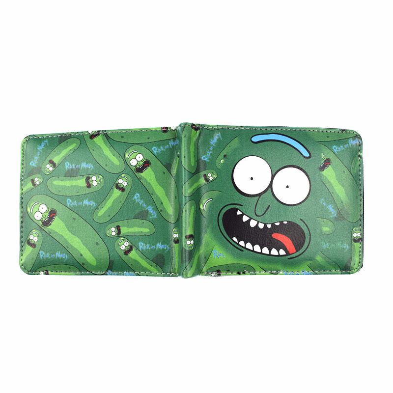 Rick And Morty Hot Anime Green Wallet