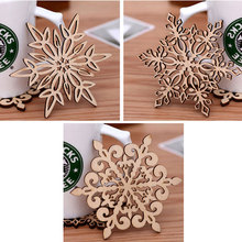 10pcs Three Retro Hollow Style Wooden Carved Snowflower Coasters Cup Mat Table Mat Home Supplies M1194(China)