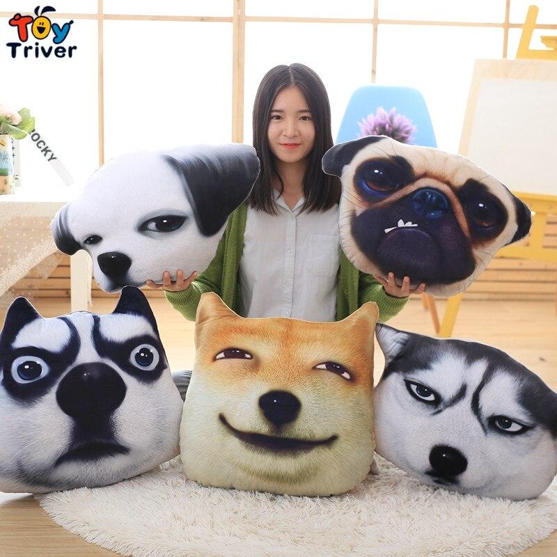 48cm 3D plush dog toys pillow cushion stuffed animal Husky Shar Pei Bulldog Birthday Christmas Wedding Gift Present Triver Toy<br><br>Aliexpress