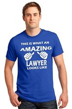 Funny Shirt Designs Graphic This Is What An Amazing Lawyer Looks Like T-shirt Law Award Crew Neck Short-Sleeve Mens T-shirts