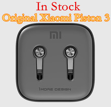 100% Original Xiaomi Piston 3 Hybrid Capsule Bass Earphones With Remote & Mic For Phone MI4 5 Hongmi Note Retail box Top Quality