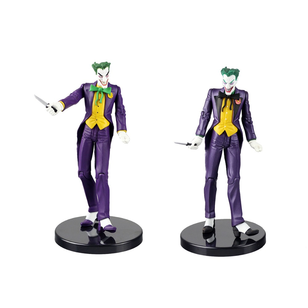 2pcs DC Comics Arkham Origins Batman The Joker Collectible Action Figure Gift Free Shipping<br>