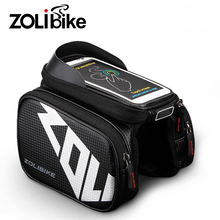 ZOLibike Bike Frame Bags Front Men Seatpost Bicycle Rainproof Bag Reflective Tube Double Bag 5.8 6.2 Inch Touch Screen Bag Bike(China)