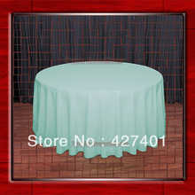 "120""R Mint 210GSM Polyester plain Table Cloth For Wedding Events & Party Decoration(Supplier)(China)"