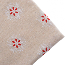 Cotton Linen Fabric Patchwork For Sewing Materials Needlework Tissue For Cushion Sofa Cloth Doll Bag For Christmas Snow 50x145cm(China)