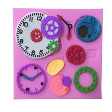 1PCS Many Kinds Of Clock Shape  Silicone Lace Cake Tools, Cookie Cutter,For Cake ,Jelly,Candy,Bakeware Decorating M037