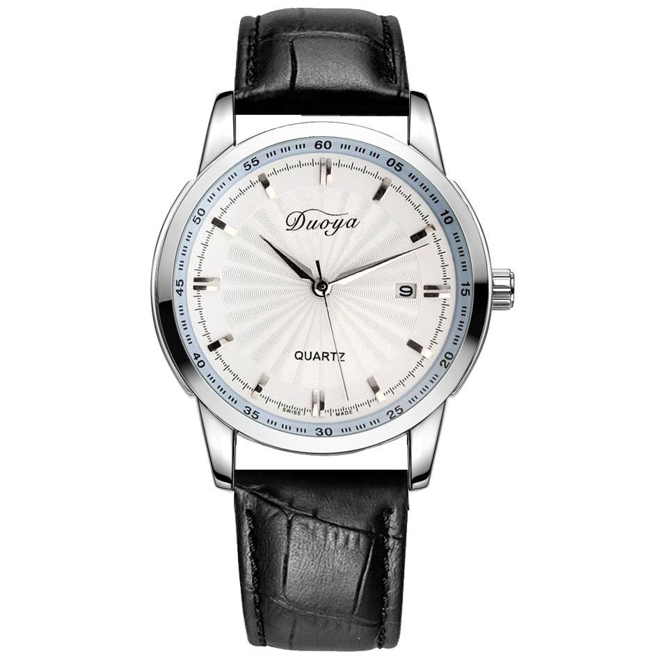 DUOYA Brand Luxury Lovers Relojes Date Business Men Quartz Leather Analog Wrist quartz Watch Couple Quartz Wrist watch #1130<br><br>Aliexpress