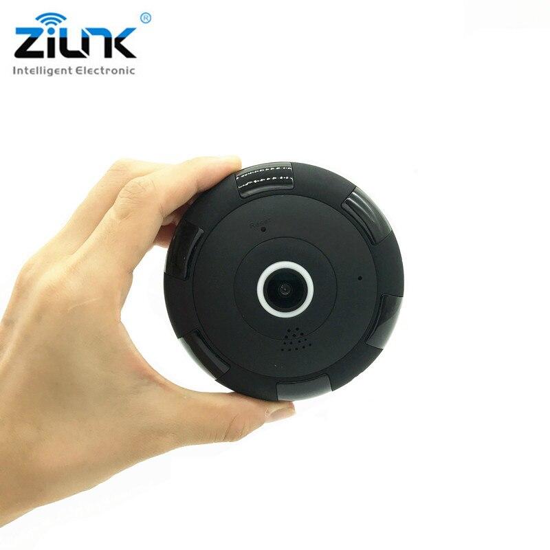 ZILNK  IP Camera 1080P HD FishEye 360 Degree Panoramic Mini WIFI Camera Wireless Network Support 64GB TF Card <br>