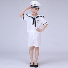 Girl and Boy Navy Clothing Children's Performance Service Uniform Chorus Clothing(China)