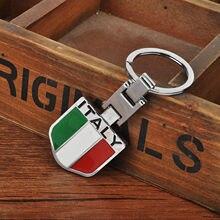 Nouvelle Voiture Porte-clés En Métal Italienne Italie Drapeau Porte-clés  Porte-clés Accessoires De Voiture Style Intérieur de Dé.. c8c3f3a0b36