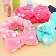 Free Shipping Fresh japanese style tenfolds big bow cosmetic beam towel toe cap covering towel hair bands
