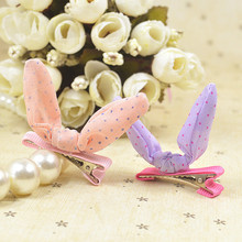 Pet rabbit ear hairpin manufacturers selling Korean version of hair ornaments dogs accessories
