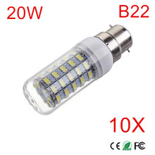 10Pcs B22 Radiation Cover LED lamp 5730 AC220V 230V 240V B22 20W Corn Bulb Light 69Ledslampada Led Candle Lighting High Power(China)
