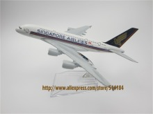16cm Alloy Metal Air Singapore Airlines Plane Model Airbus A380 9V-SKA Airways Airplane Model Aircraft Mode Gift(China)