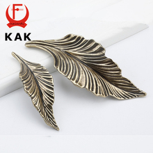 KAK Novelty Black Gold Leaves Creative Cabinet Drawer knobs Handles Wardrobe Door handles Furniture Handles Furniture Hardware