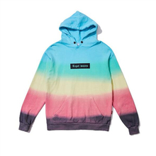 High Street Autumn and Winter Gradient Color Tie Dye Street Couple Hooded Hoodies Men and Women Unisex Fashion Boy Girl Clothes(China)