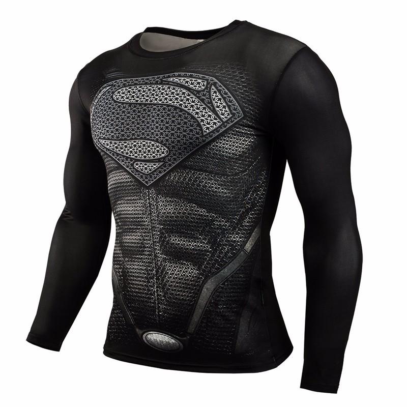 Marvel Gyms Clothing Fitness Compression Shirt Men Batman t-shirt men Long Sleeve 3D t shirt men Crossfit Tops tee shirt homme 31