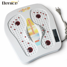 Benice Physical Infrared Reflexology Foot Massager Electric Machine Automatic Roller Feet Vibration Magnetic Therapy Heated SPA