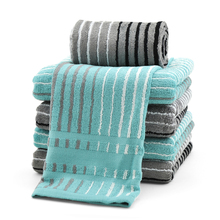 Bamboo Fiber Hand Towel Striped Cotton Stripe Sets Toalha Microfibra Home Camping Soft Cooling Travel Frozen Towel Hair QQC158