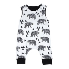 Buy Hot Selling Baby Rompers 2018 Newborn Boys Girls Clothes Polar Bear Print Summer Body Suit Sleeveless Jumpsuit for $4.68 in AliExpress store