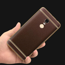 TPU Soft Plating Edge Phone Case For Xiaomi Redmi Hongmi Note 2 3 4 Note 4X 3S 4 4A 4 Pro Cover Luxuey PU Leather Casing Fundas
