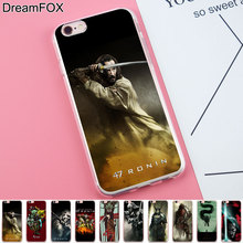 DREAMFOX K178 Ronin Samurai Armure Sword Soft TPU Silicone Case Cover For Apple iPhone 8 X 7 6 6S Plus 5 5S SE 5C 4 4S(China)