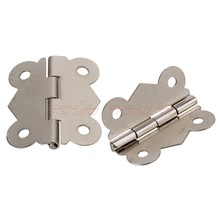 Mini 20pcs Silver Hinge Butterfly Style Cabinet Drawer Butt Hinge Butterfly Hinges Jewelry boxes Cabinet Hinge