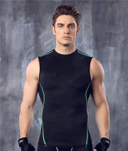 mens compression vest tight base layer skin gilet running Fitness Excercise gym soccer football vest sleeveless shirts