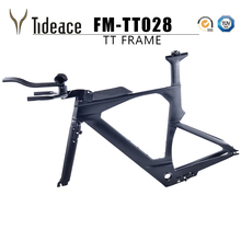 2018 NEW Di2 carbon time trial triathlon frame 700c light carbon TT bike frame carbon TT frameset with free brake clipers(China)